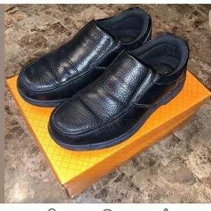 Safe T Step Slip Resistant Shoes, Black, Sz 6.5